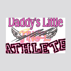 Daddy's Little Athlete 35x21 Wall Decal