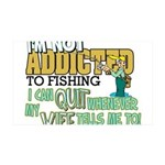 quit wife fish 35x21 Wall Decal