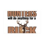 Hunters/Buck 35x21 Wall Decal