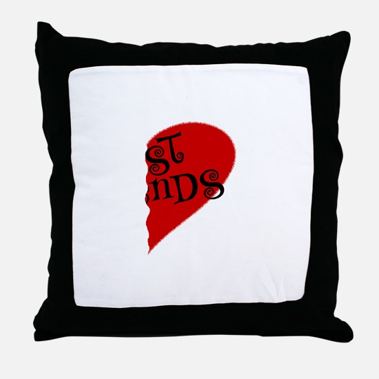 HEARTBESTFRE.png Throw Pillow