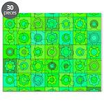 Green Hippie Flower Pattern Puzzle