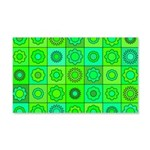 Green Hippie Flower Pattern 20x12 Wall Decal