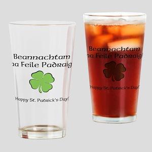 Happy St. Patricks Day Drinking Glass