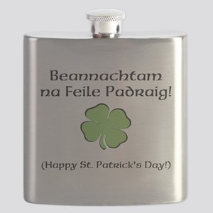 Happy St. Patricks Day Flask