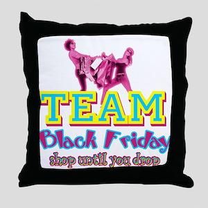 Team Black Friday Throw Pillow