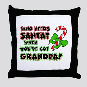 grandpasanta Throw Pillow