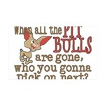 pitpullsgone.png 35x21 Wall Decal