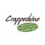 Crappochino 35x21 Wall Decal