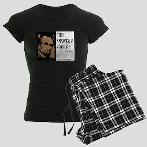 Answer is Simple Women's Dark Pajamas