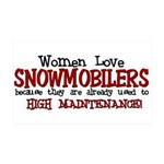 Snowmobiling 35x21 Wall Decal