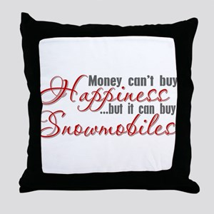 Snowmobiling Throw Pillow