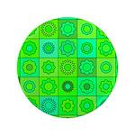 Green Hippie Flower Pattern 3.5