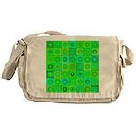 Green Hippie Flower Pattern Messenger Bag