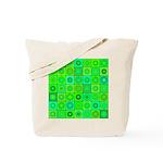 Green Hippie Flower Pattern Tote Bag