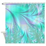 Aqua And Lavender Shower Curtain