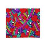 Heart and Rainbow Pattern Throw Blanket