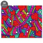 Heart and Rainbow Pattern Puzzle