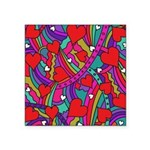 Heart and Rainbow Pattern Sticker