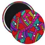 Heart and Rainbow Pattern Magnet