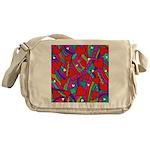 Heart and Rainbow Pattern Messenger Bag