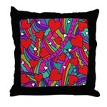Heart and Rainbow Pattern Throw Pillow