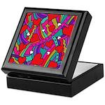 Heart and Rainbow Pattern Keepsake Box