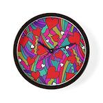 Heart and Rainbow Pattern Wall Clock