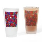 Heart and Rainbow Pattern Drinking Glass