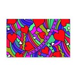Heart and Rainbow Pattern Wall Decal