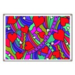 Heart and Rainbow Pattern Banner