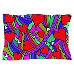 Heart and Rainbow Pattern Pillow Case