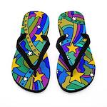 Shooting Star Hippie Pattern Flip Flops