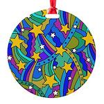 Shooting Star Hippie Pattern Ornament