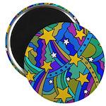 Shooting Star Hippie Pattern Magnet