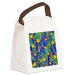 Shooting Star Hippie Pattern Canvas Lunch Bag