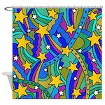 Shooting Star Hippie Pattern Shower Curtain