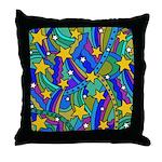 Shooting Star Hippie Pattern Throw Pillow