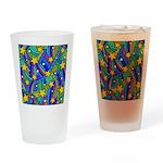 Shooting Star Hippie Pattern Drinking Glass