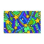 Shooting Star Hippie Pattern Wall Decal