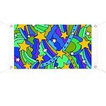 Shooting Star Hippie Pattern Banner