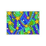 Shooting Star Hippie Pattern 5'x7'Area Rug