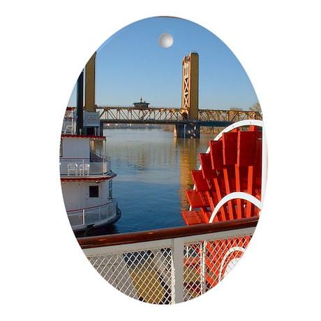Sacramento Waterfront Oval Ornament