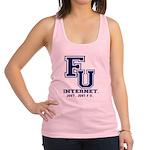 F U Collegiate Internet Racerback Tank Top