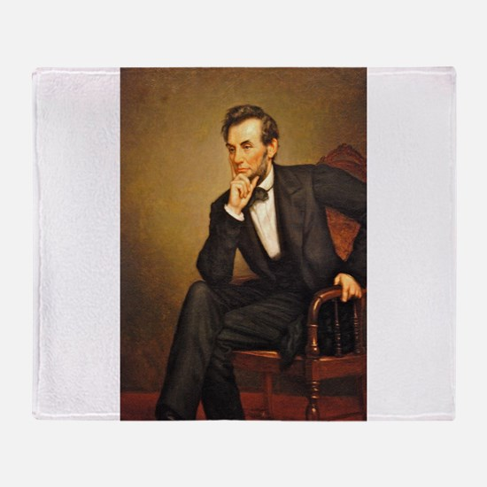 Young Abraham Lincoln Throw Blanket
