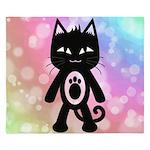 Kawaii Rainbow and Black Cat King Duvet