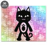 Kawaii Rainbow and Black Cat Puzzle