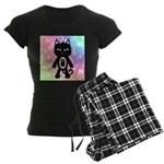 Kawaii Rainbow and Black Cat Pajamas
