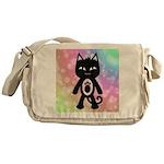Kawaii Rainbow and Black Cat Messenger Bag