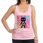 Kawaii Rainbow and Black Cat Racerback Tank Top