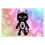 Kawaii Rainbow and Black Cat Posters
